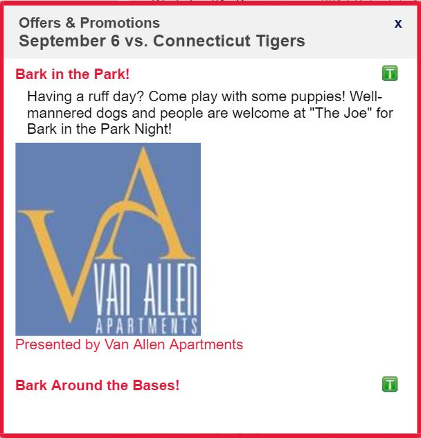 "Van Allen Apartments To Sponsor ""Bark In The Park"" 9/6/17"